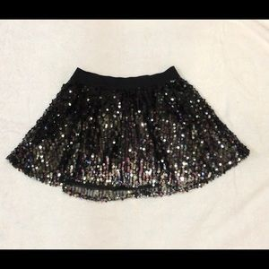 sequin skirt black & silver
